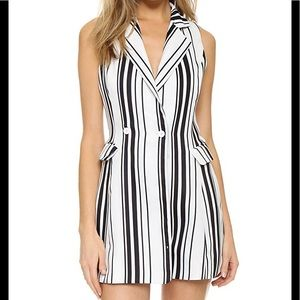 JOA striped blazer romper size small
